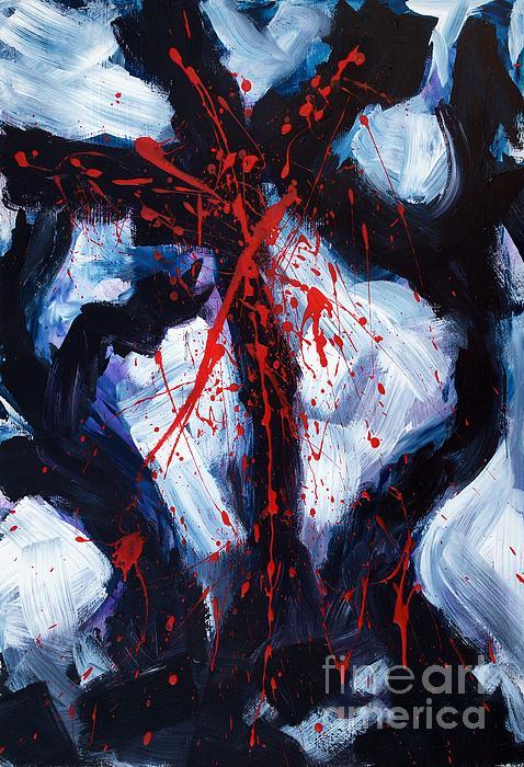 Crucified Print by Lidija Ivanek