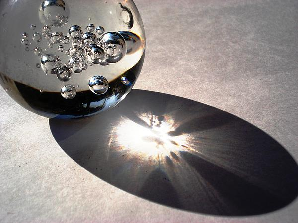Crystal Ball With Trapped Air Bubbles Print by Sumit Mehndiratta