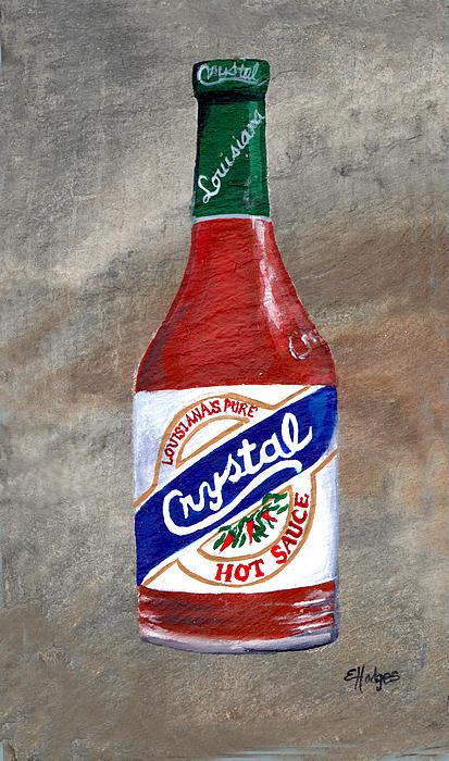 Crystal Hot Sauce Print by Elaine Hodges