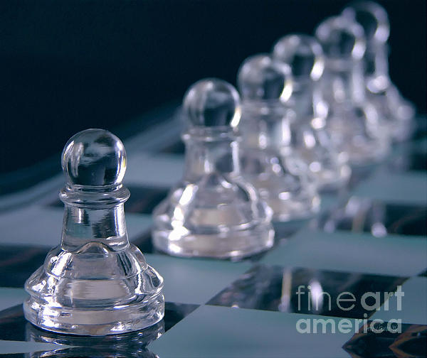 Crystal Pawns Print by Anne Kitzman