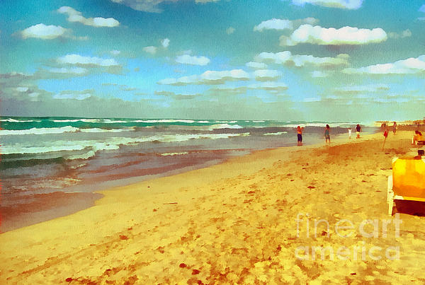 Cuba Beach Print by Odon Czintos