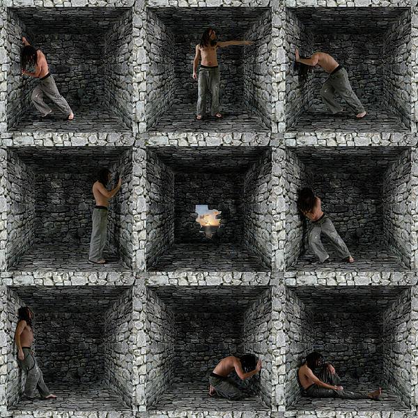 Cube  Print by Mariusz Zawadzki