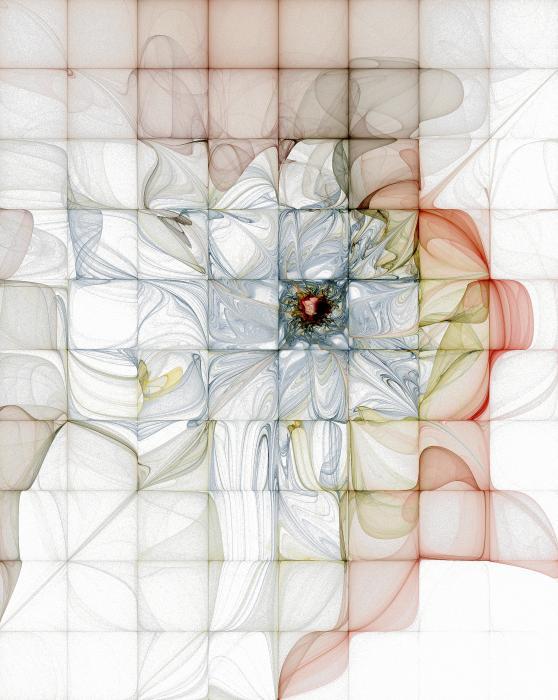 Cubed Pastels Print by Amanda Moore