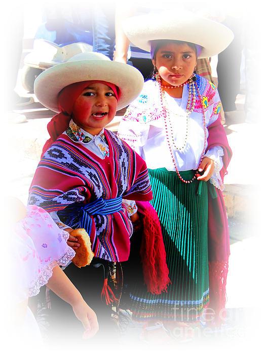 Cuenca Kids 191 Print by Al Bourassa