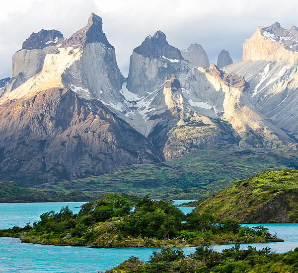 Cuernos Del Paine - Patagonia Print by Carl Amoth