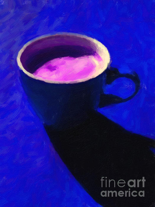 Wingsdomain Art and Photography - Cuppa Joe - Blue