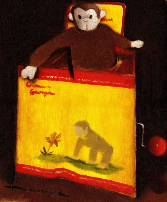 Curious George still life Painting