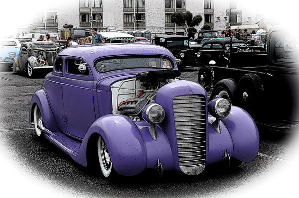 Custom Purple 35 Ford Print by Steve McKinzie