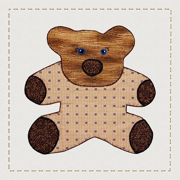Cute Country Style Teddy Bear Print by Tracie Kaska