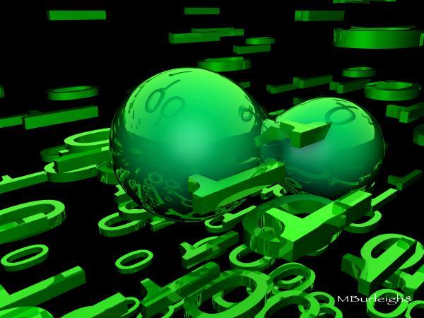 Cyber Virus Print by Michael Burleigh