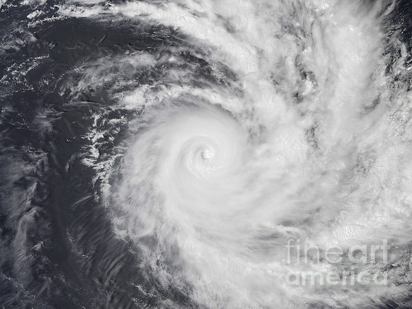 Cyclone Zoe In The South Pacific Ocean Print by Stocktrek Images