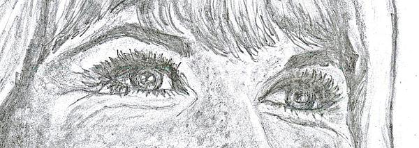 D D Eyes Print by Carol Wisniewski