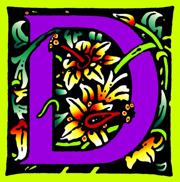 D In Purple Print by Kathleen Sepulveda
