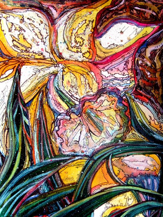 Daffodil Delirium Print by Mindy Newman
