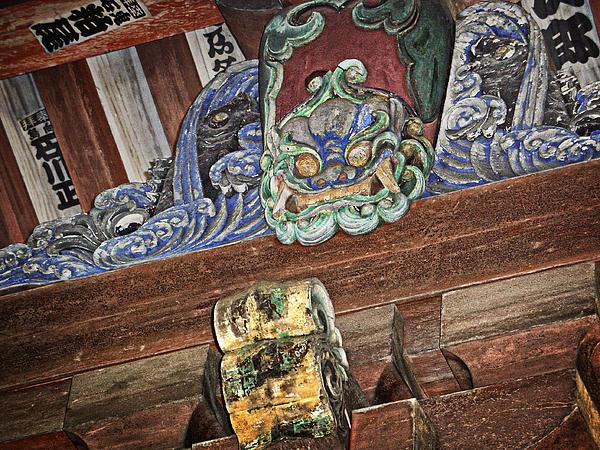 Daigoji Temple Gate Gargoyle - Kyoto Japan Print by Daniel Hagerman