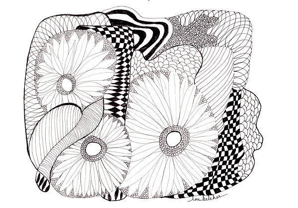 Lou Belcher - Daisy Zentangle