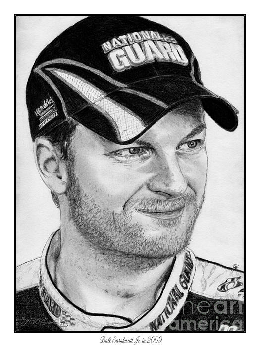 Dale Earnhardt Jr In 2009 Print by J McCombie