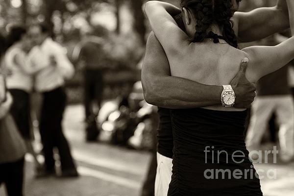 Dance With Me Print by Leslie Leda
