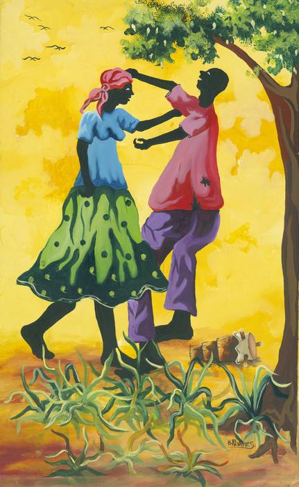 Dancing Couple Print by Herold Alvares