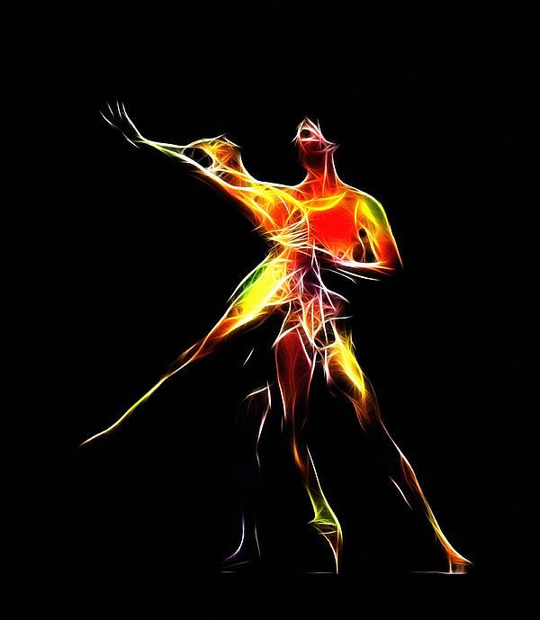 Dancing Lovers Print by Stefan Kuhn