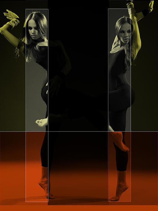 Dancing Mirrors Print by Naxart Studio
