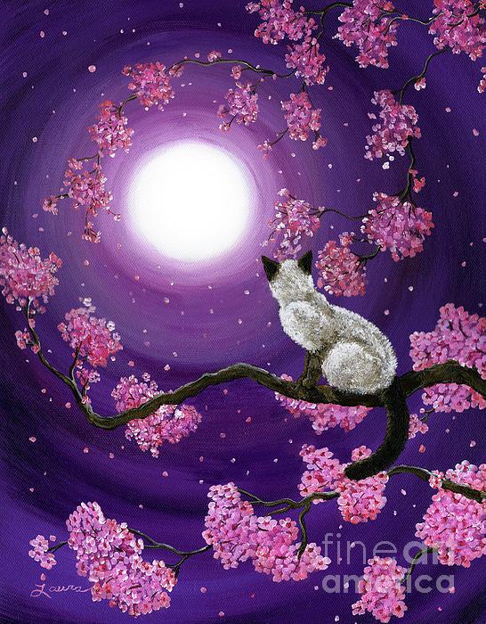 Dancing Pink Petals Print by Laura Iverson