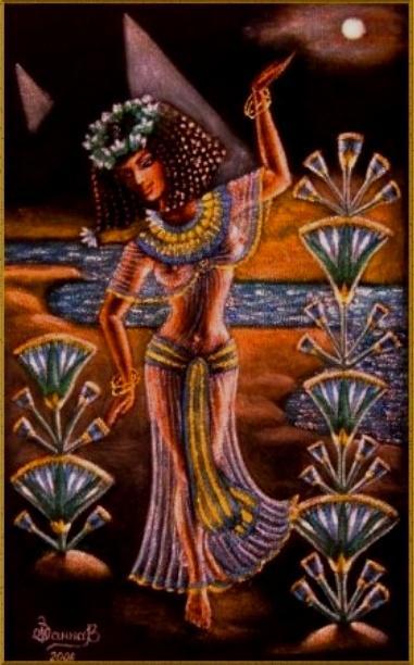 Dancing Under Egyptian Moon By Janna Ali Zakovenko