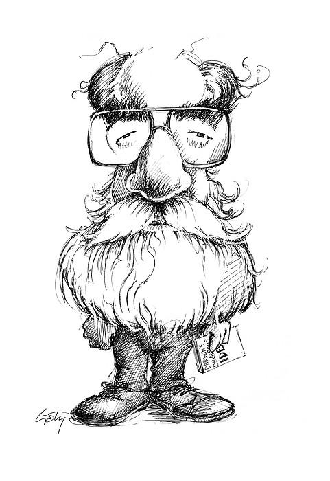 Daniel Dennett, Us Cognitive Scientist Print by Gary Brown