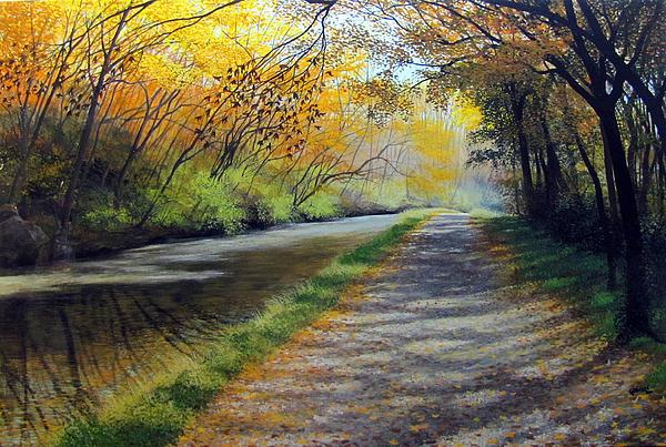 Dappled Autumn Light Print by David Bottini