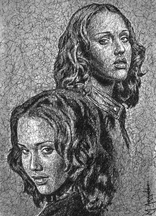 Dark Angel Print by Maria Arango