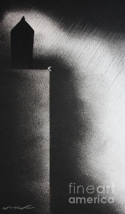 Darkness Shrouds My House Print by Chris Mackie