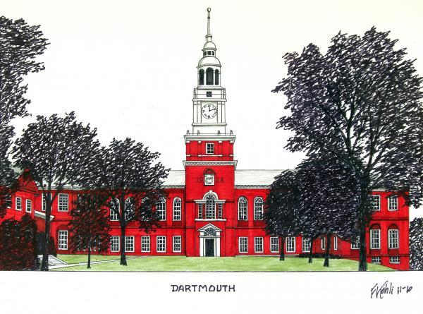 Dartmouth Print by Frederic Kohli