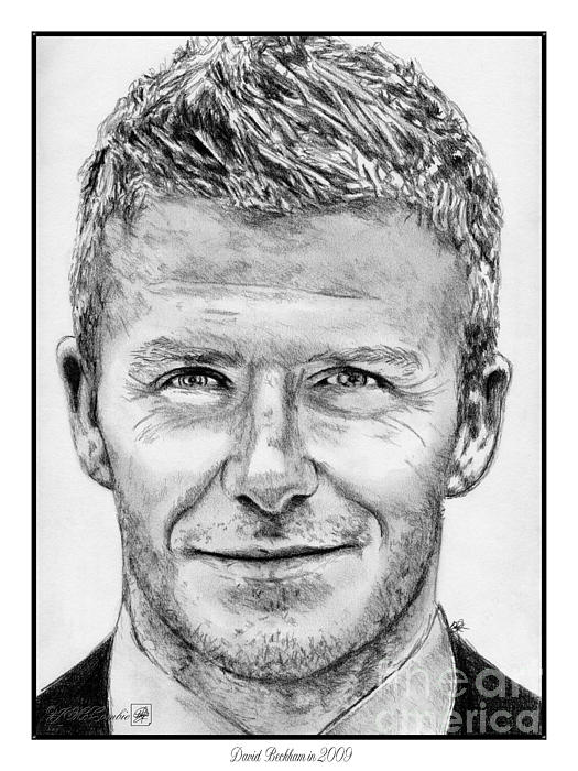David Beckham In 2009 Print by J McCombie