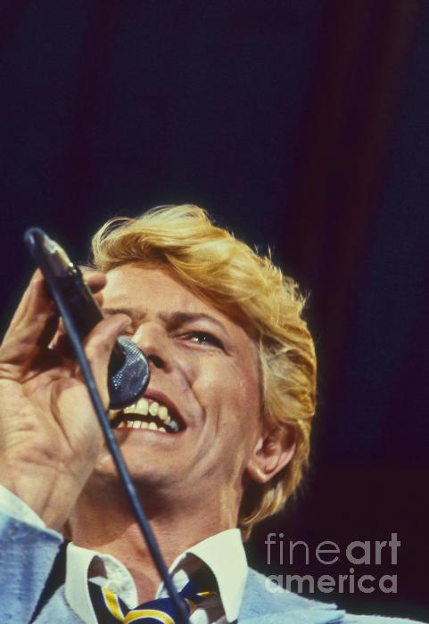 David Bowie Smiling Eye Photograph