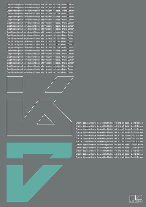 David Carson Poster Print by Naxart Studio