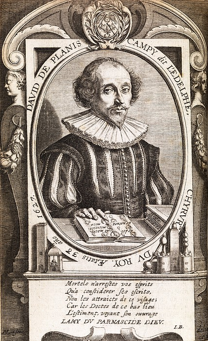 David De Planis Campy, French Alchemist Print by Middle Temple Library