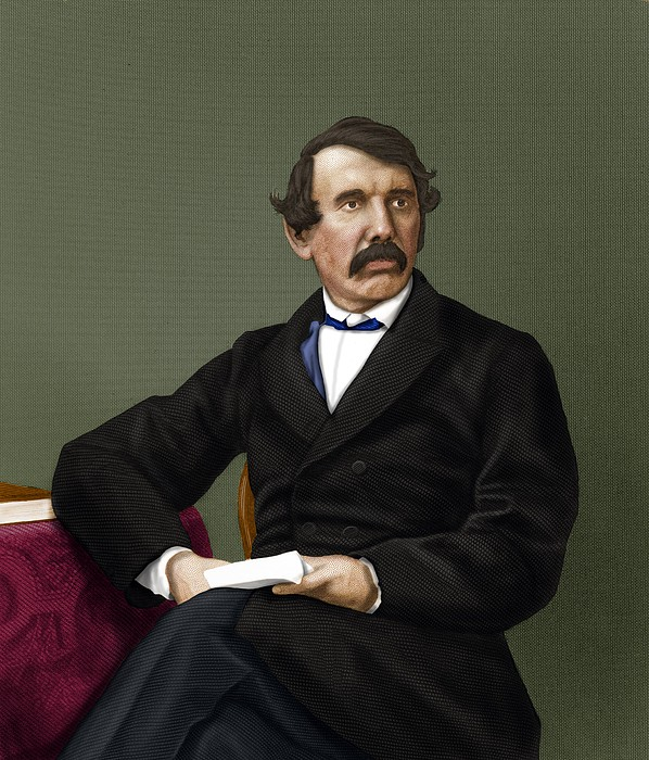 David Livingstone, Scottish Explorer Print by Maria Platt-evans