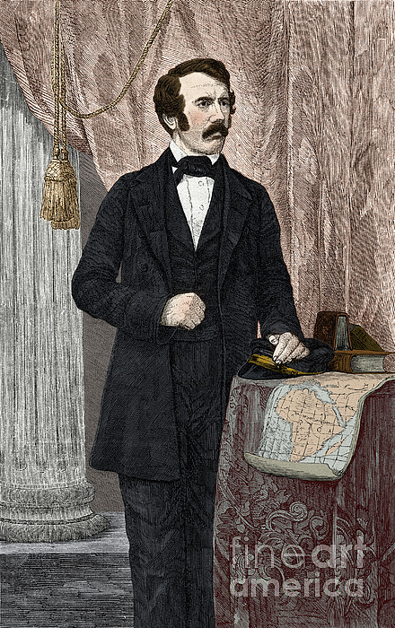 David Livingstone, Scottish Missionary Print by New York Public Library
