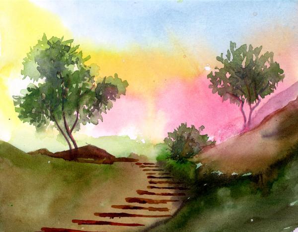 Dawn Print by Anil Nene