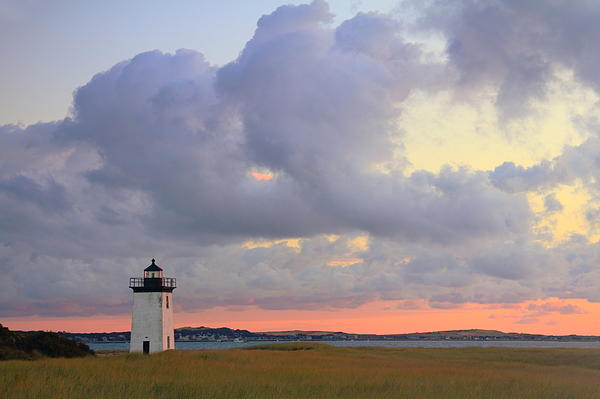 Dawn At Long Point Lighthouse Print by Roupen  Baker