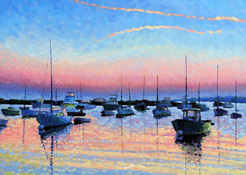 Dawning Light Note Card Painting