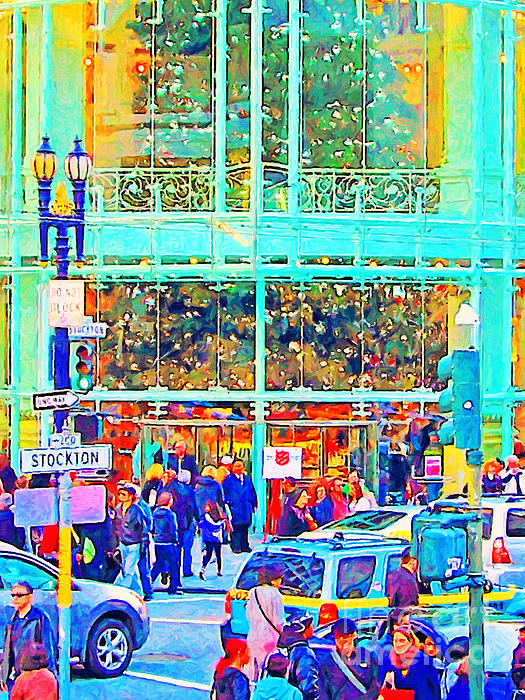 Day Before Christmas At Neiman Marcus . Photoart Print by Wingsdomain Art and Photography