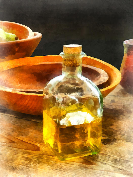 Decanter Of Oil Print by Susan Savad