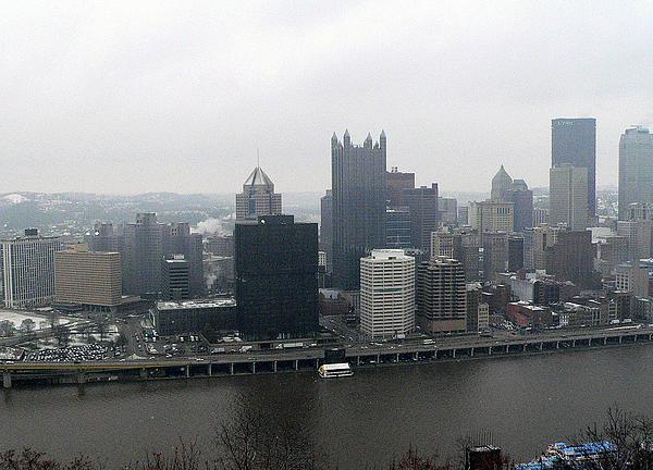December Pittsburgh Print by David Bearden