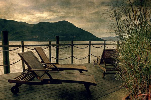 Deck Chairs Print by Joana Kruse