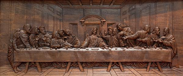 Decorative Panel - Last Supper Print by Goran