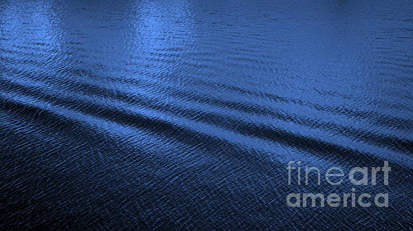 Deep Blue Sea Print by Carol Groenen