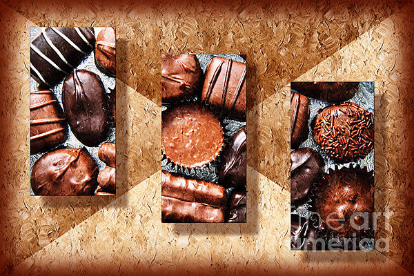 Deep Rich Chocolates Triptych Photograph