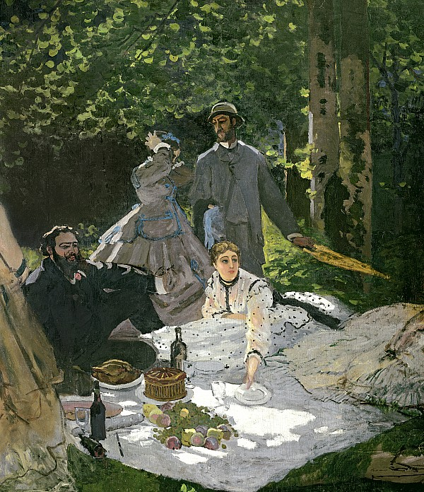 Dejeuner Sur Lherbe Print by Claude Monet