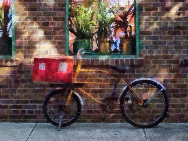 Delivery Bicycle Greenwich Village Print by Susan Savad
